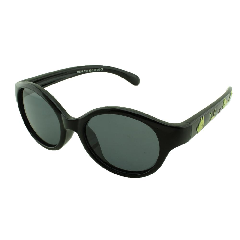 Óculos Solar Infantil Polarizado em Nylon Flexível T1638 Preto