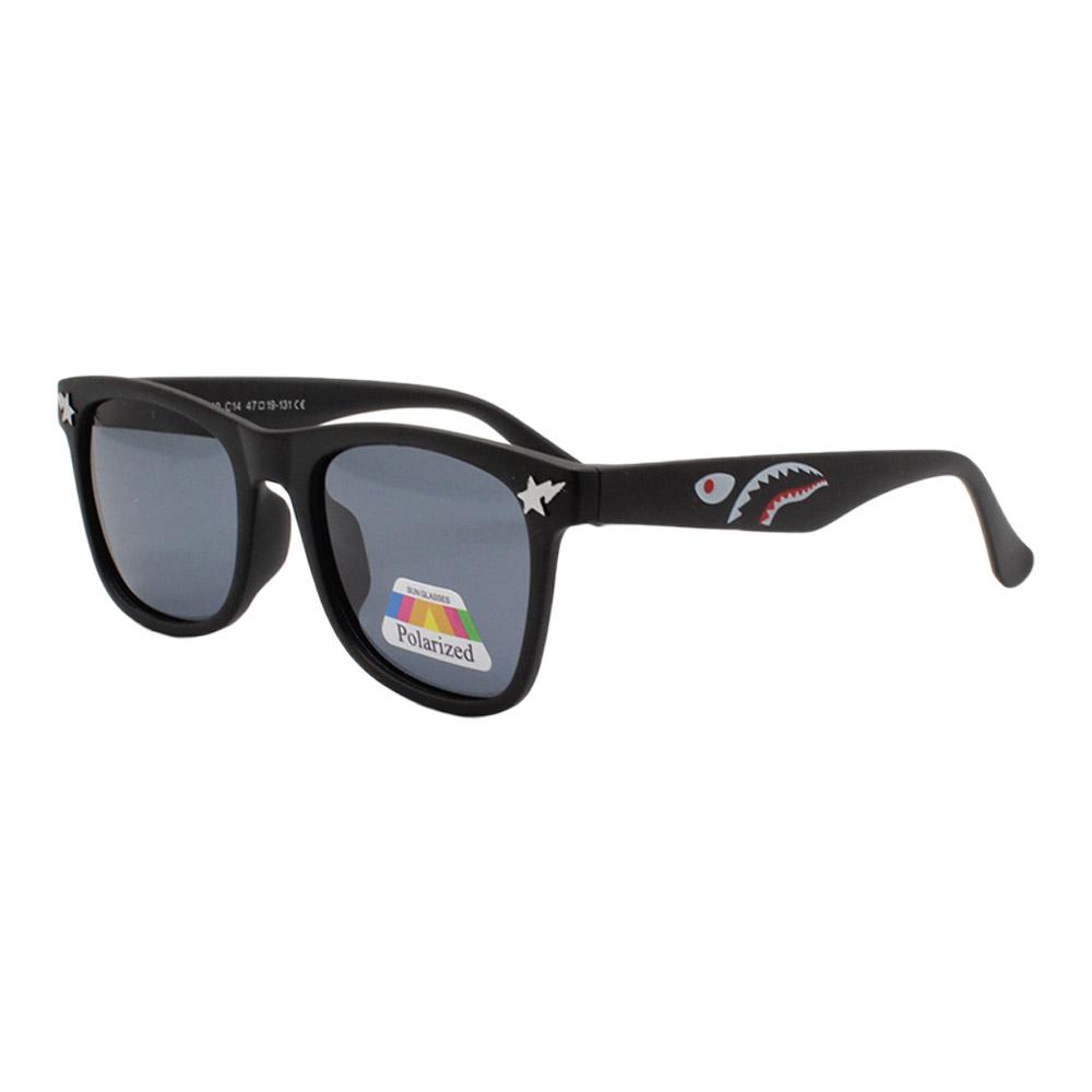 Óculos Solar Infantil Polarizado em Nylon Flexível T1640 Preto
