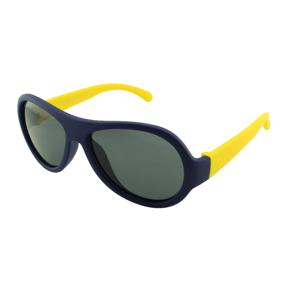 Óculos Solar Infantil Polarizado em Nylon Flexível T1769 Azul