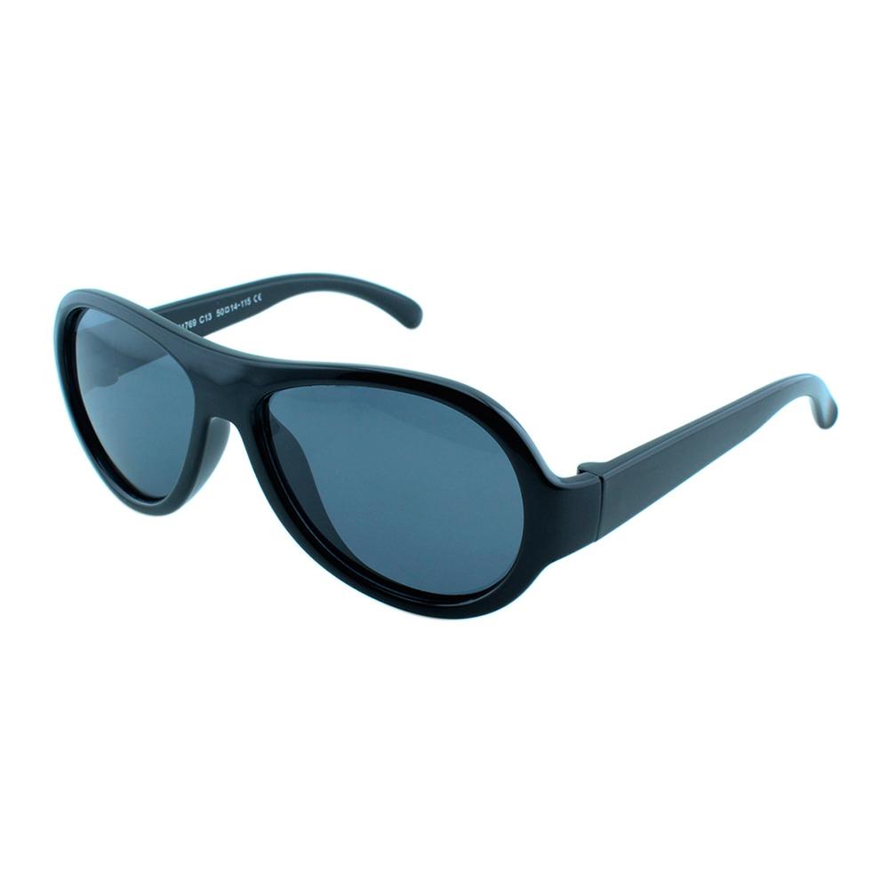 Óculos Solar Infantil Polarizado em Nylon Flexível T1769 Preto