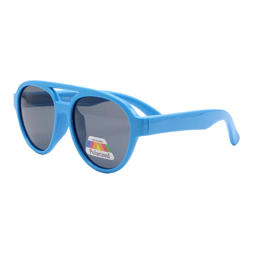 Óculos Solar Infantil Polarizado em Nylon Flexível T1875 Azul