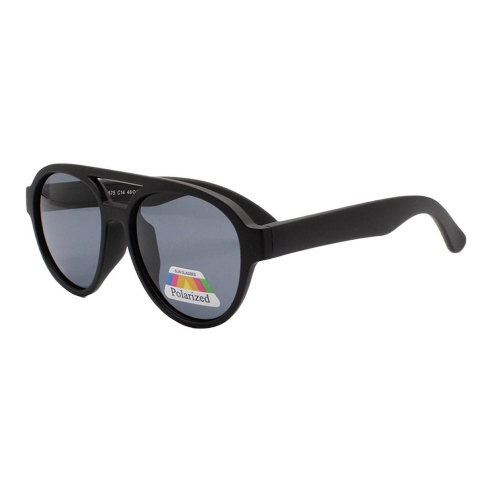 Óculos Solar Infantil Polarizado em Nylon Flexível T1875 Preto