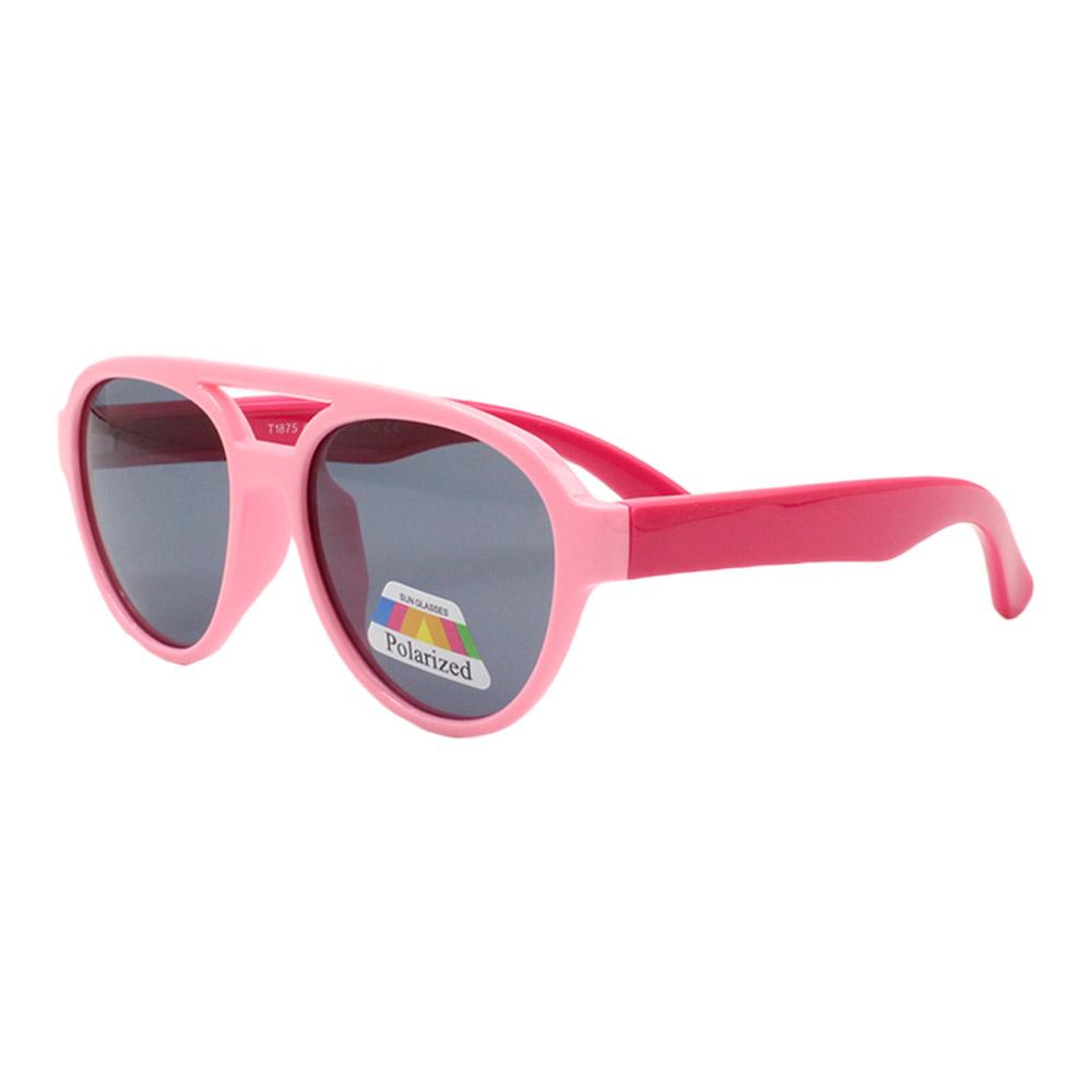 Óculos Solar Infantil Polarizado em Nylon Flexível T1875 Rosa