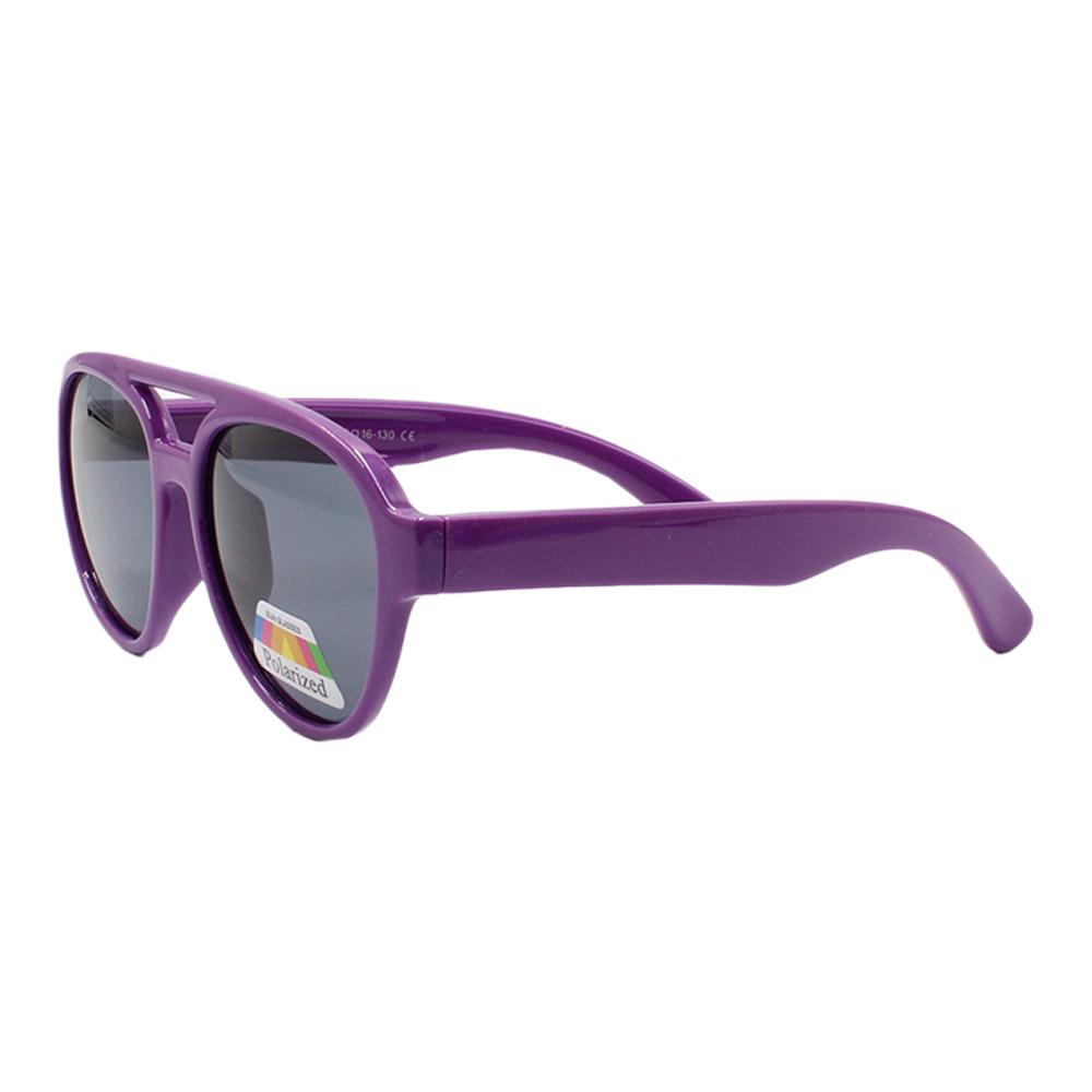 Óculos Solar Infantil Polarizado em Nylon Flexível T1875 Roxo