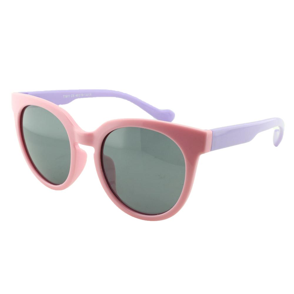 Óculos Solar Infantil Polarizado em Nylon Flexível T1911 Rosa