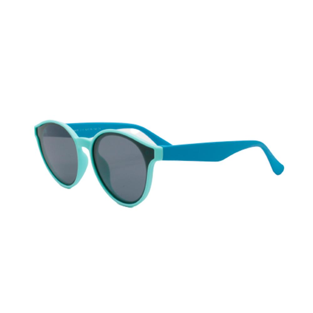 Óculos Solar Infantil Polarizado em Nylon Flexível T1935-C11 Turquesa e Azul