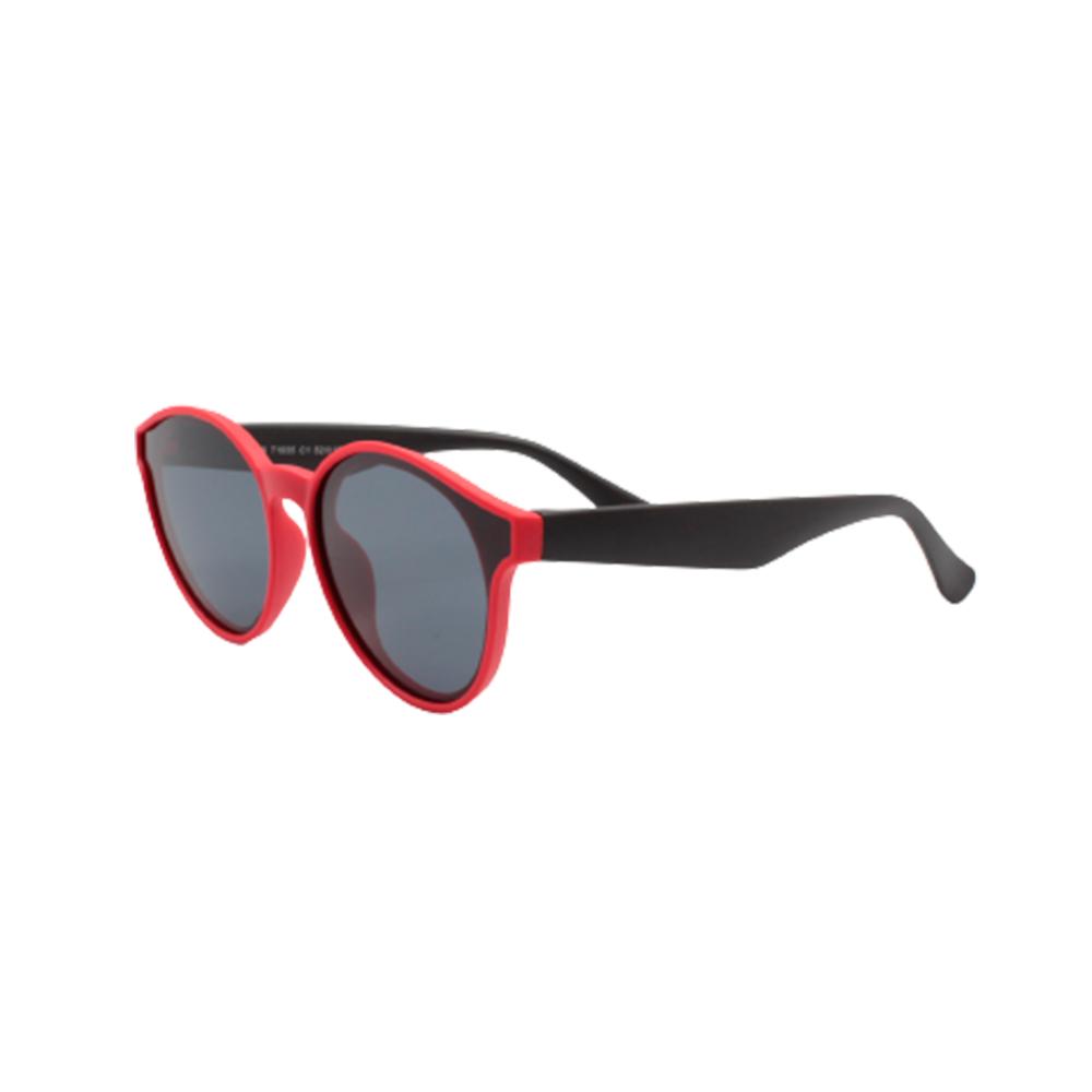 Óculos Solar Infantil Polarizado em Nylon Flexível T1935-C1 Vermelho e Preto