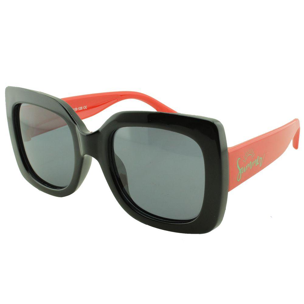 Óculos Solar Infantil Primeira Linha Polarizado T1903 Preto e Vermelho