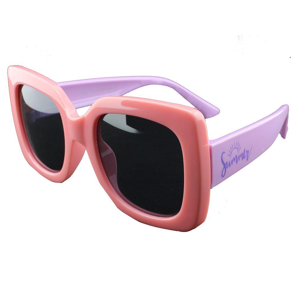Óculos Solar Infantil Primeira Linha Polarizado T1903 Rosa e Lilás