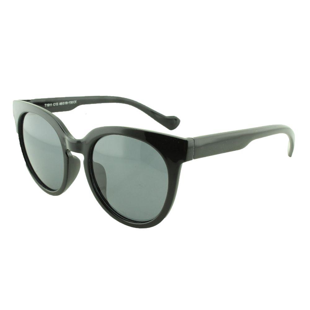 Óculos Solar Infantil Polarizado em Nylon Flexível T1911 Preto