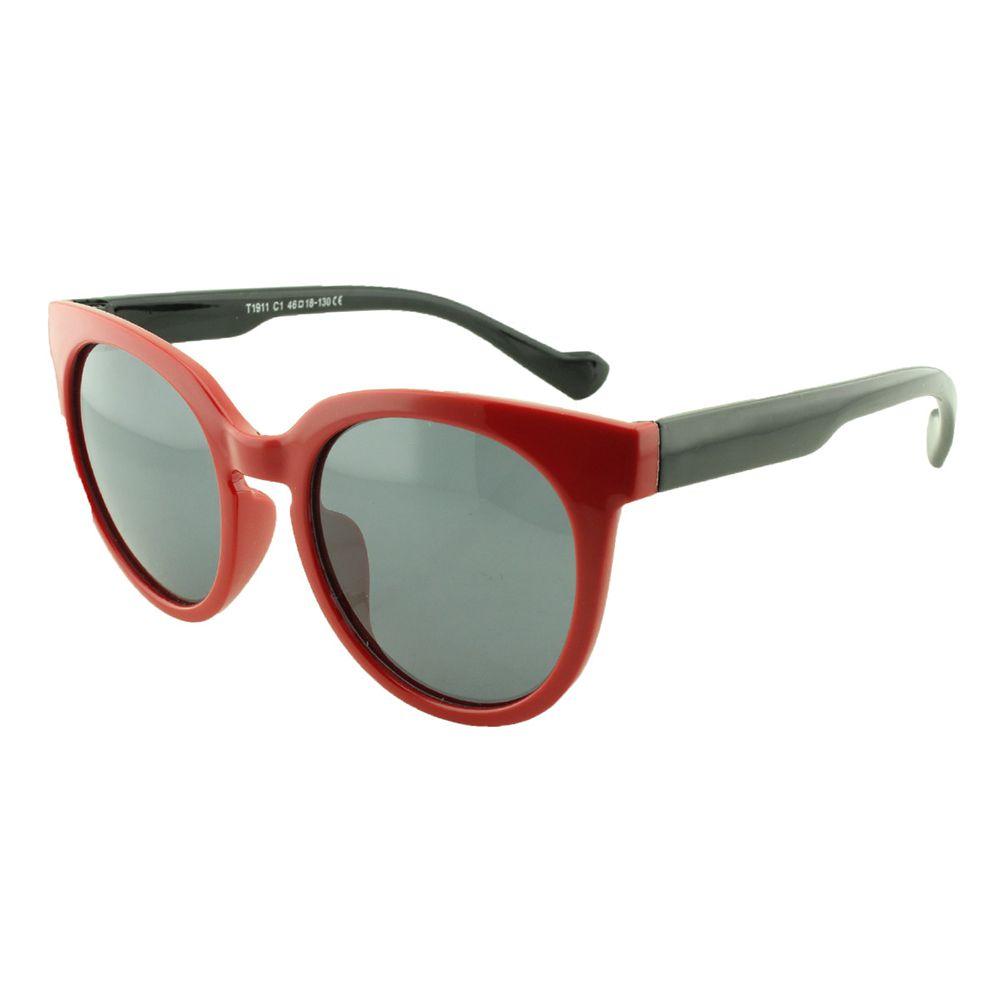 Óculos Solar Infantil Polarizado em Nylon Flexível T1911 Vermelho e Preto