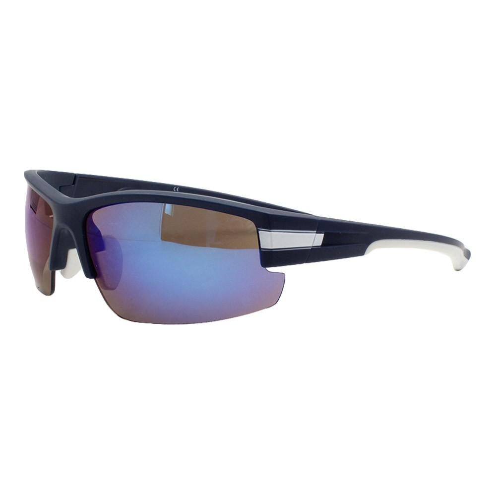 Óculos Solar Masculino Esportivo JF108 Azul Espelhado
