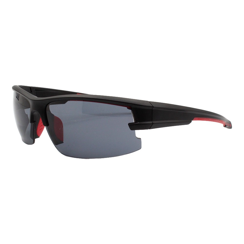 Óculos Solar Masculino Esportivo JF109 Preto e Vermelho