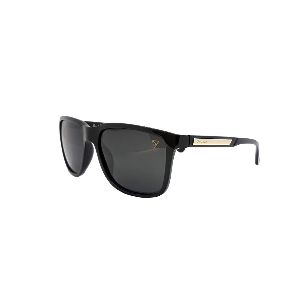Óculos Solar Masculino Polarizado 18004AZ Preto com Estojo Vianzo