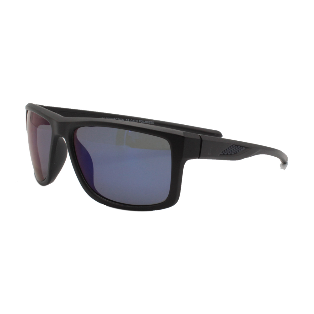 Óculos Solar Masculino Polarizado VB5076-C01 Preto e Azul Espelhado