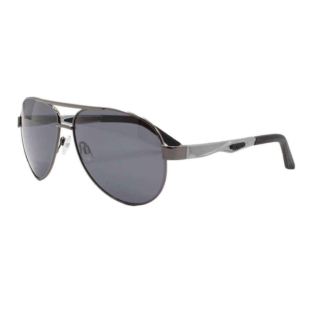 Óculos Solar Masculino Primeira Linha Aviador Polarizado 88004 Grafite com Hastes de Alumínio