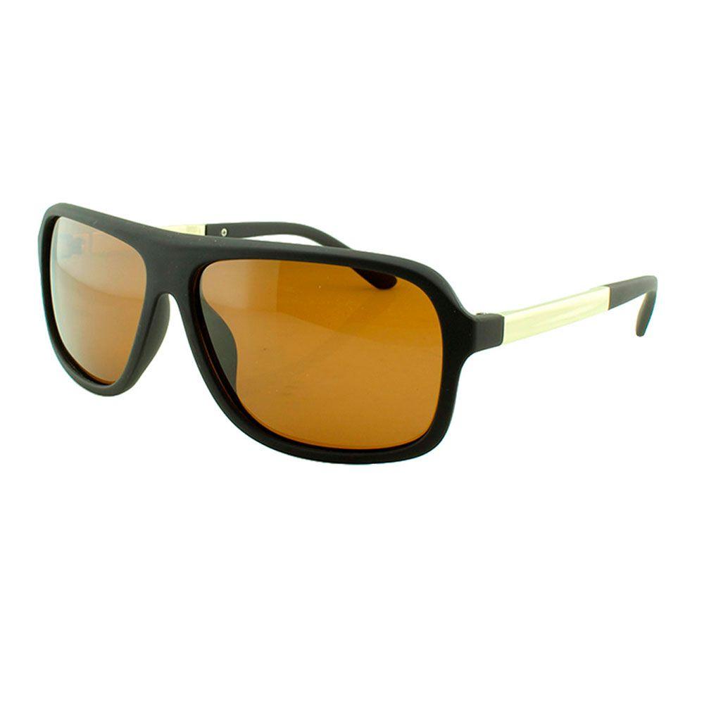 Óculos Solar Masculino Primeira Linha Polarizado 18003AZ Marrom