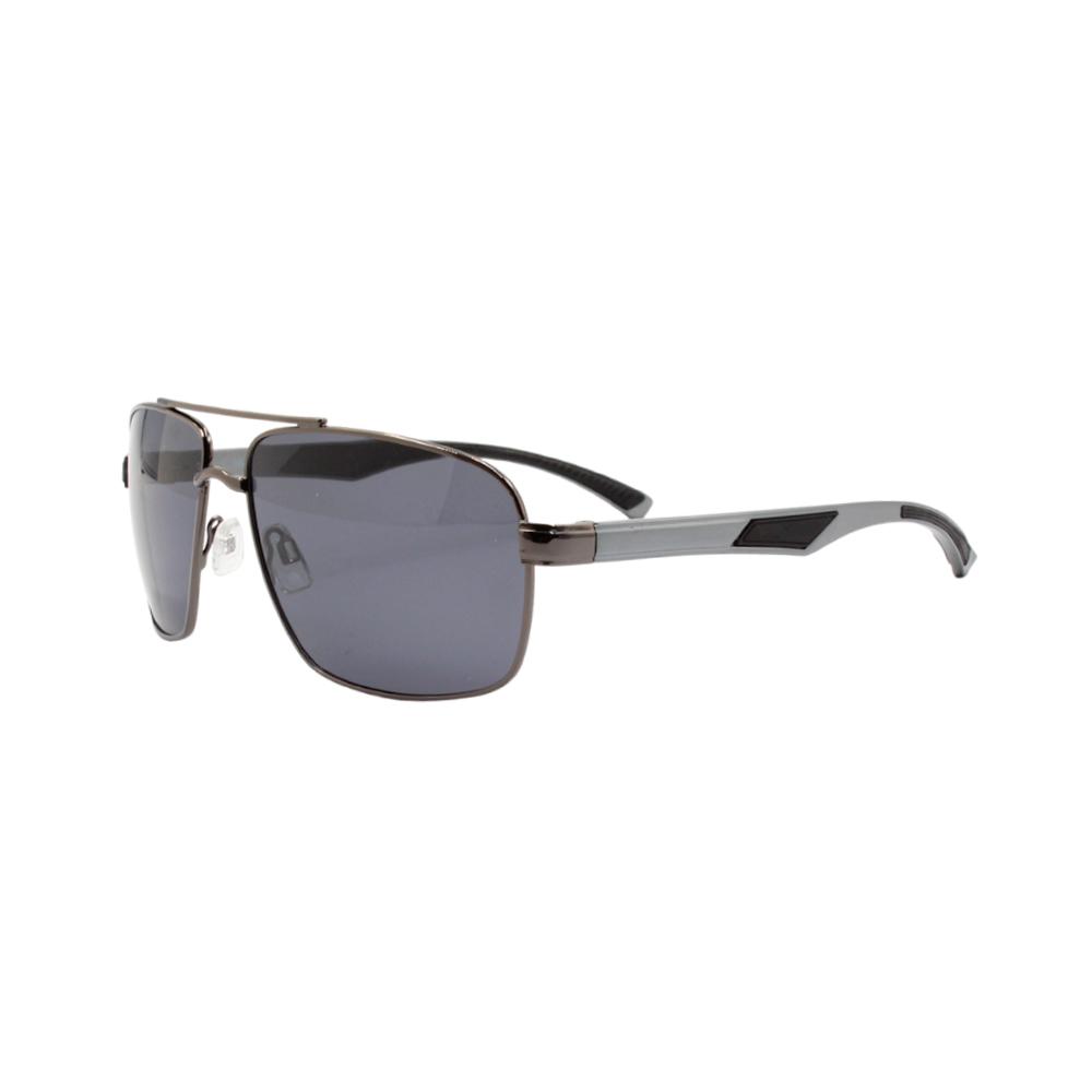 Óculos Solar Masculino Primeira Linha Polarizado 88006 Grafite com Hastes de Alumínio
