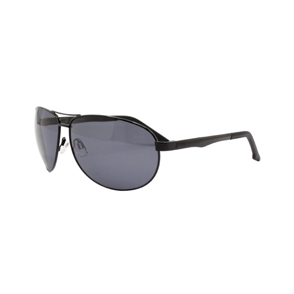 Óculos Solar Masculino Primeira Linha Polarizado 88007 Preto com Hastes de Alumínio