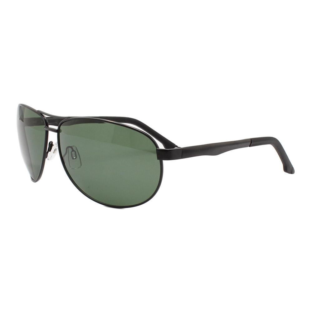 Óculos Solar Masculino Primeira Linha Polarizado 88007 Preto e Verde com Hastes de Alumínio