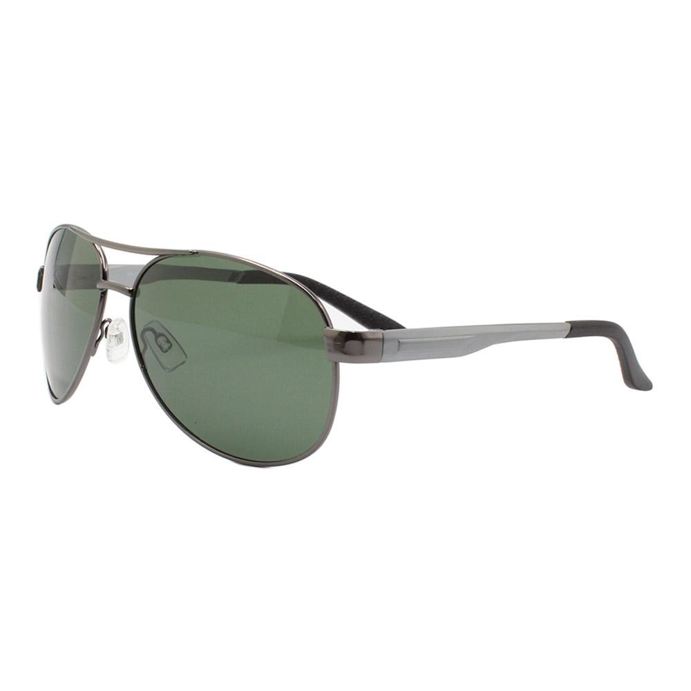 Óculos Solar Masculino Primeira Linha Polarizado 88008 Grafite e Verde com Hastes de Alumínio