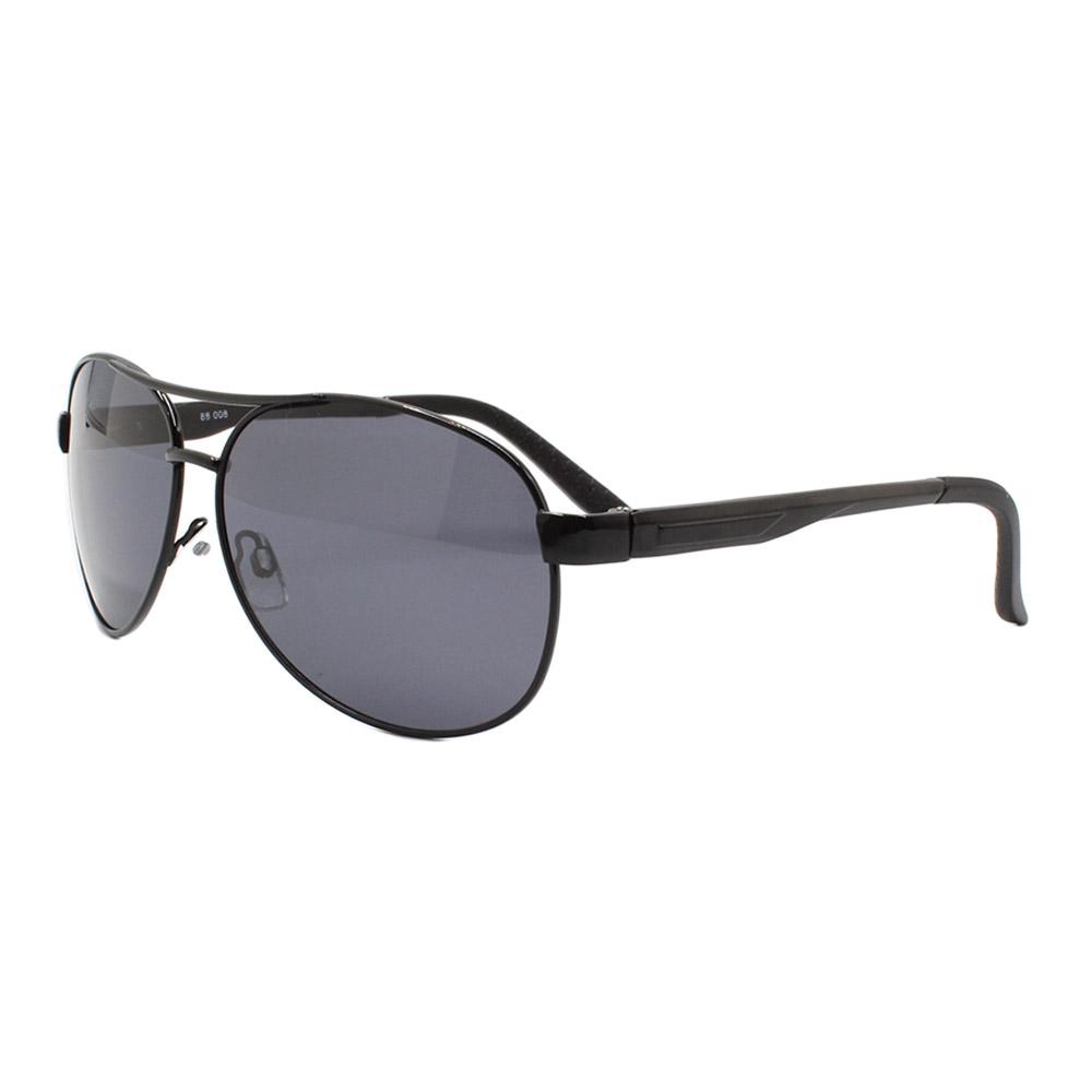 Óculos Solar Masculino Primeira Linha Polarizado 88008 Preto com Hastes de Alumínio