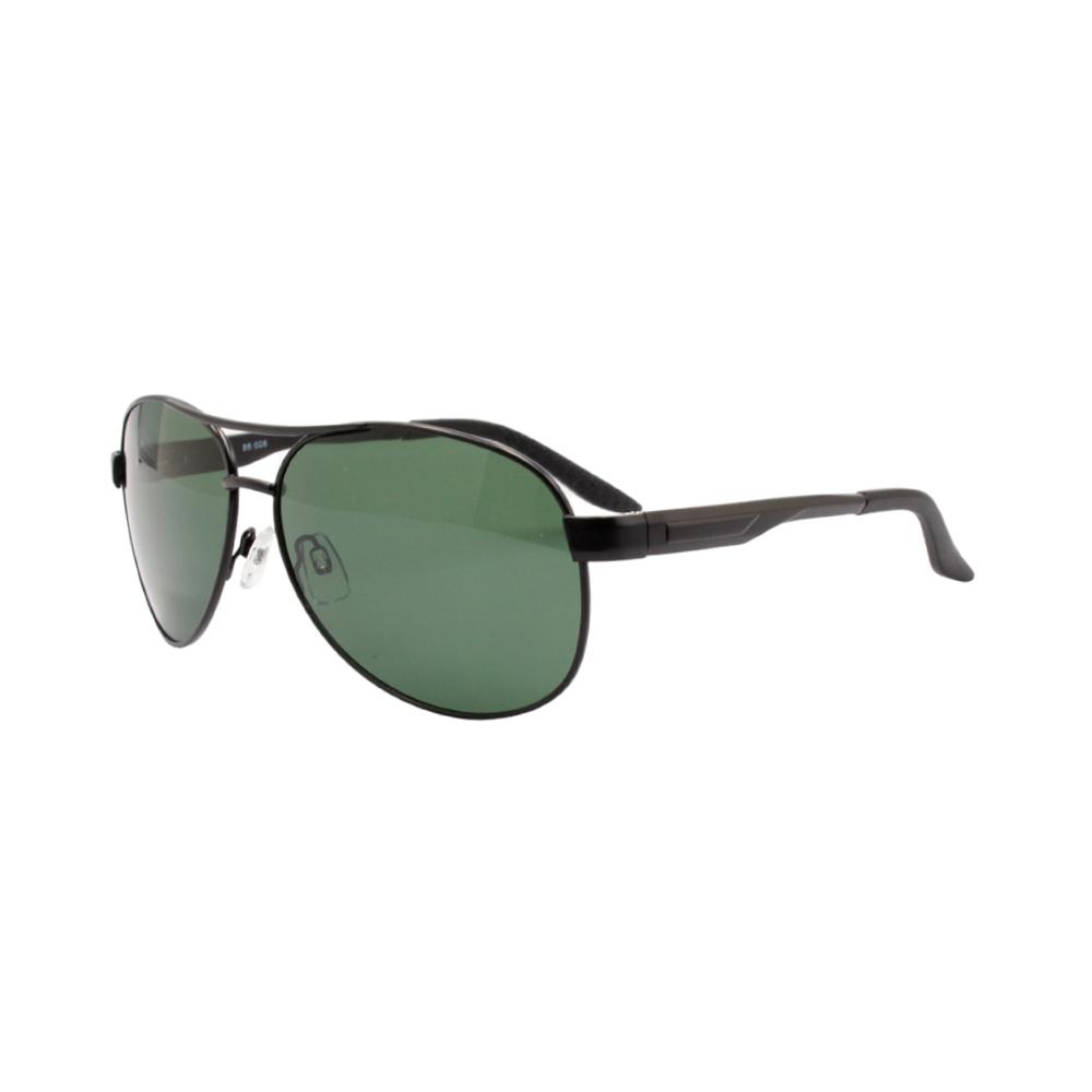 Óculos Solar Masculino Primeira Linha Polarizado 88008 Preto e Verde com Hastes de Alumínio