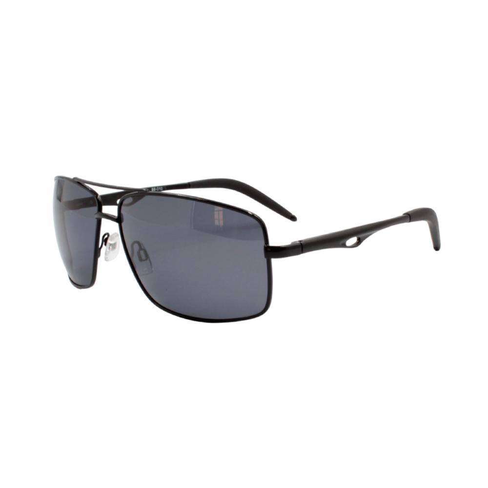 Óculos Solar Masculino Primeira Linha Polarizado 88010 Preto com Hastes de Alumínio