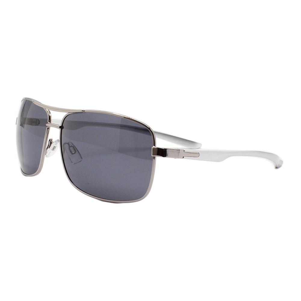 Óculos Solar Masculino Primeira Linha Polarizado 88011 Prata com Hastes de Alumínio