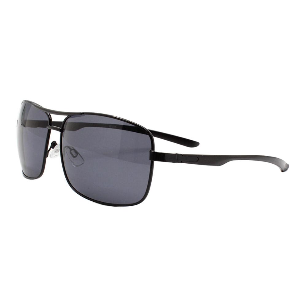 Óculos Solar Masculino Primeira Linha Polarizado 88011 Preto com Hastes de Alumínio
