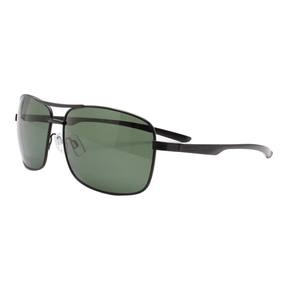 Óculos Solar Masculino Primeira Linha Polarizado 88011 Preto e Verde com Hastes de Alumínio