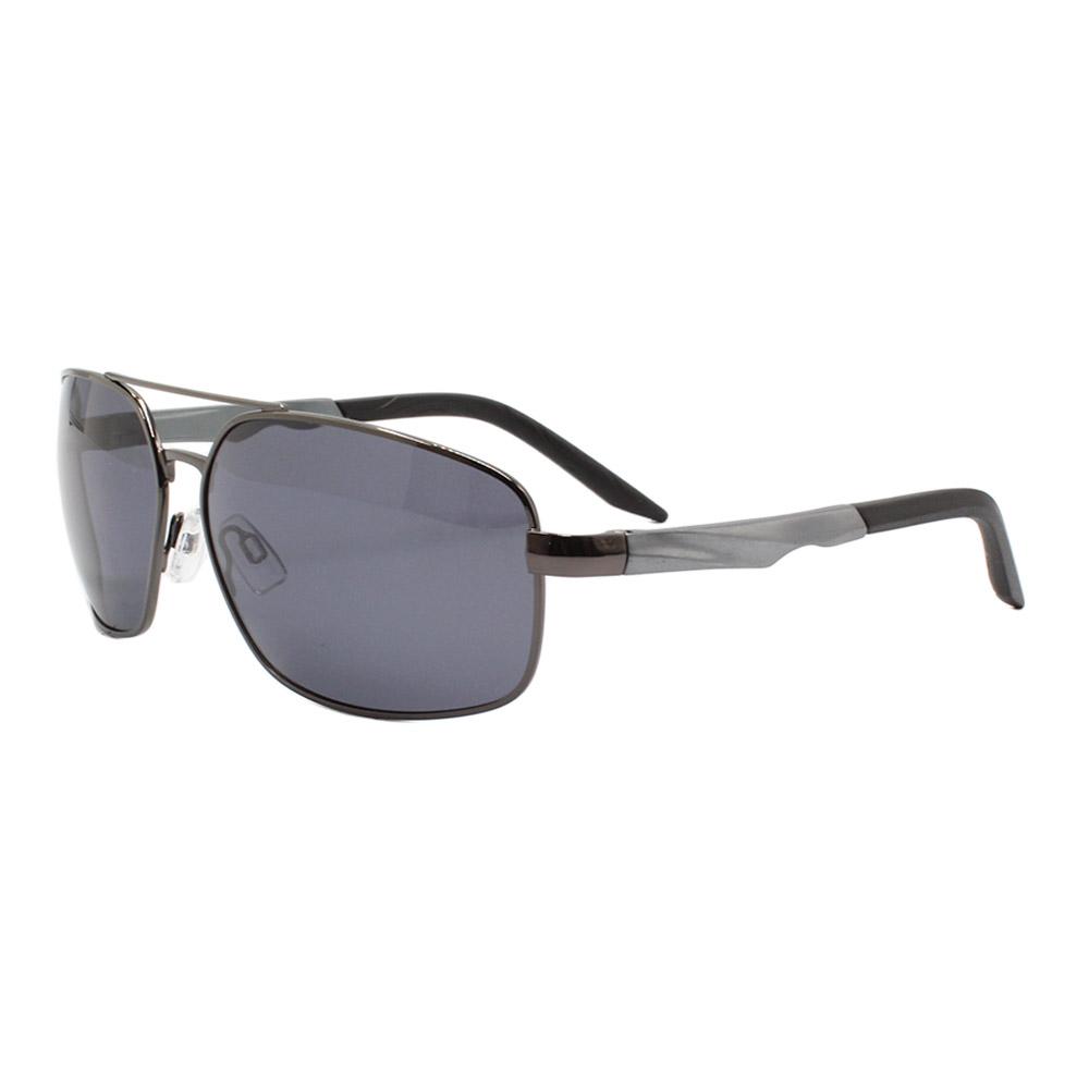 Óculos Solar Masculino Primeira Linha Polarizado 88012 Grafite com Hastes de Alumínio
