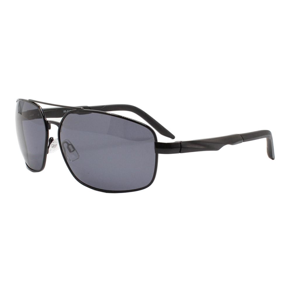 Óculos Solar Masculino Primeira Linha Polarizado 88012 Preto com Hastes de Alumínio