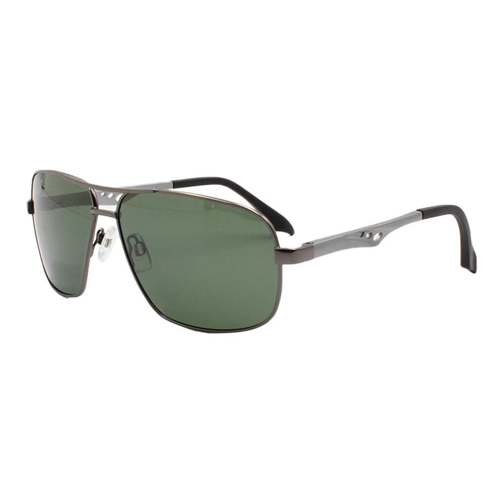 Óculos Solar Masculino Primeira Linha Polarizado 88015 Grafite com Hastes de Alumínio