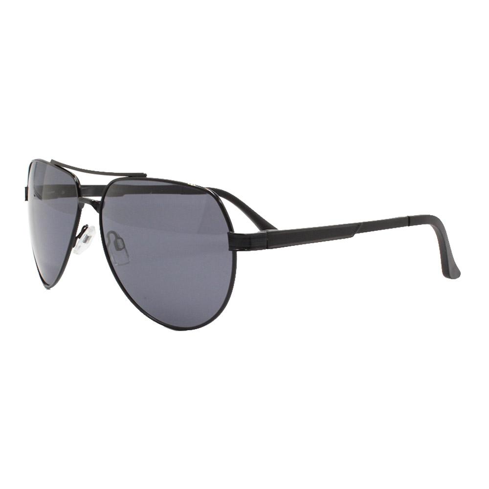 Óculos Solar Masculino Primeira Linha Polarizado 88016 Preto com Hastes de Alumínio