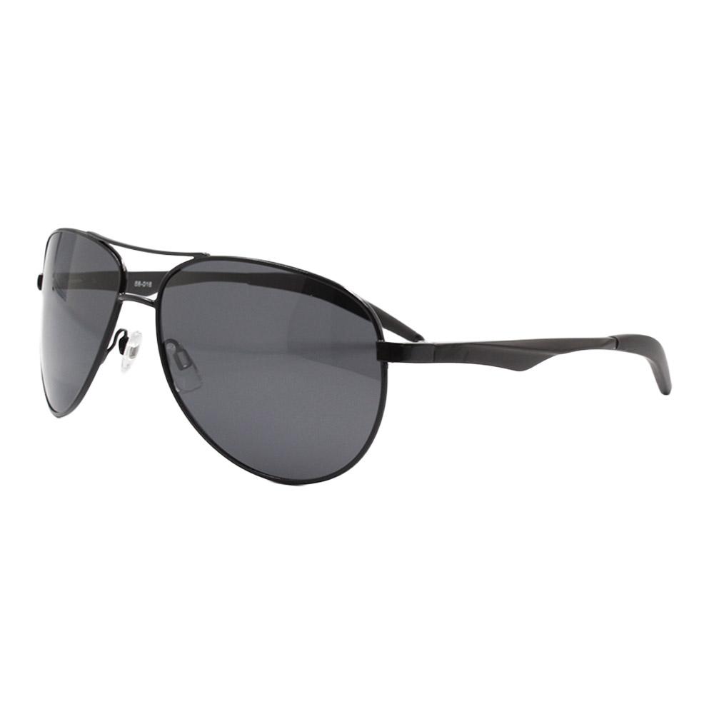 Óculos Solar Masculino Primeira Linha Polarizado 88018 Preto com Hastes de Alumínio