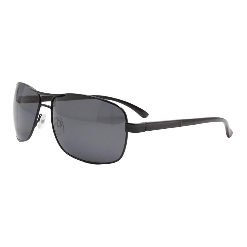 Óculos Solar Masculino Primeira Linha Polarizado 88019 Preto com Hastes de Alumínio