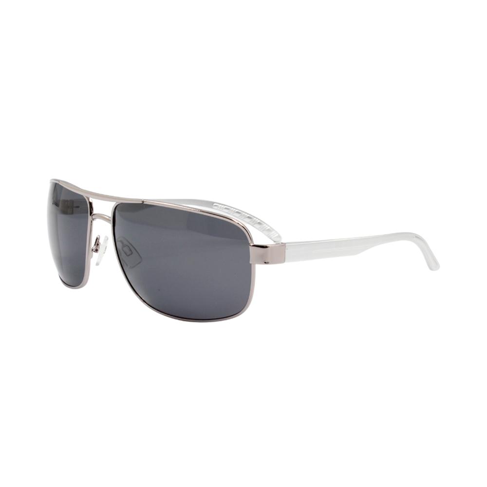 Óculos Solar Masculino Primeira Linha Polarizado 88020 Prata com Hastes de Alumínio