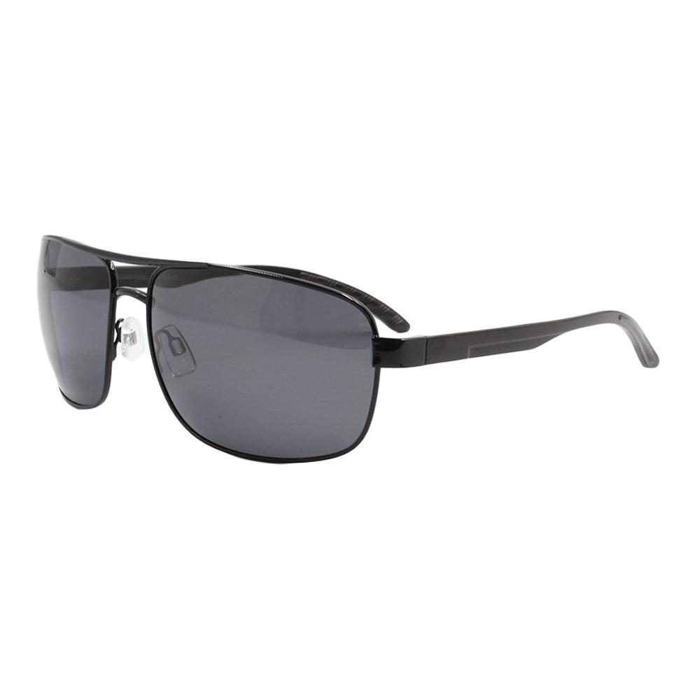 Óculos Solar Masculino Primeira Linha Polarizado 88020 Preto com Hastes de Alumínio