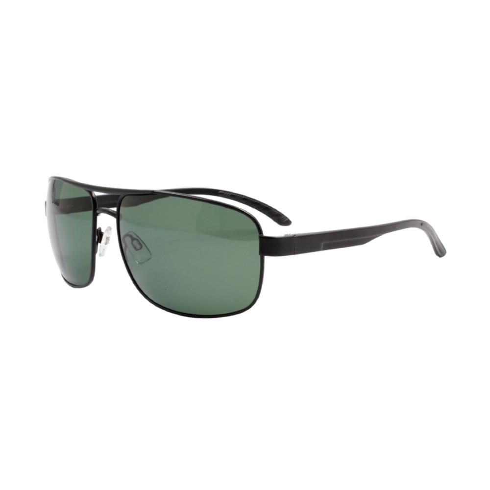 Óculos Solar Masculino Primeira Linha Polarizado 88020 Preto e Verde com Hastes de Alumínio