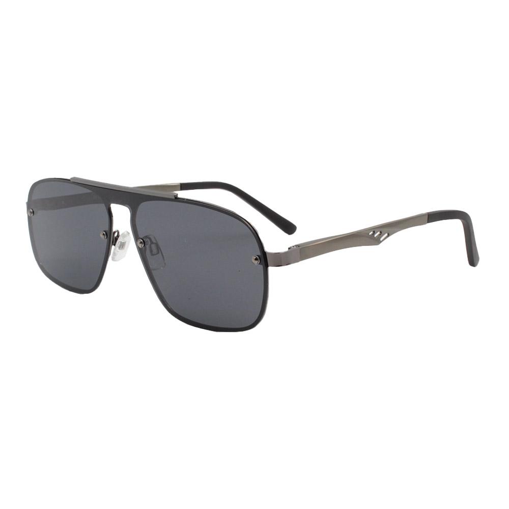 Óculos Solar Masculino Primeira Linha Polarizado 88026 Grafite com Hastes de Alumínio