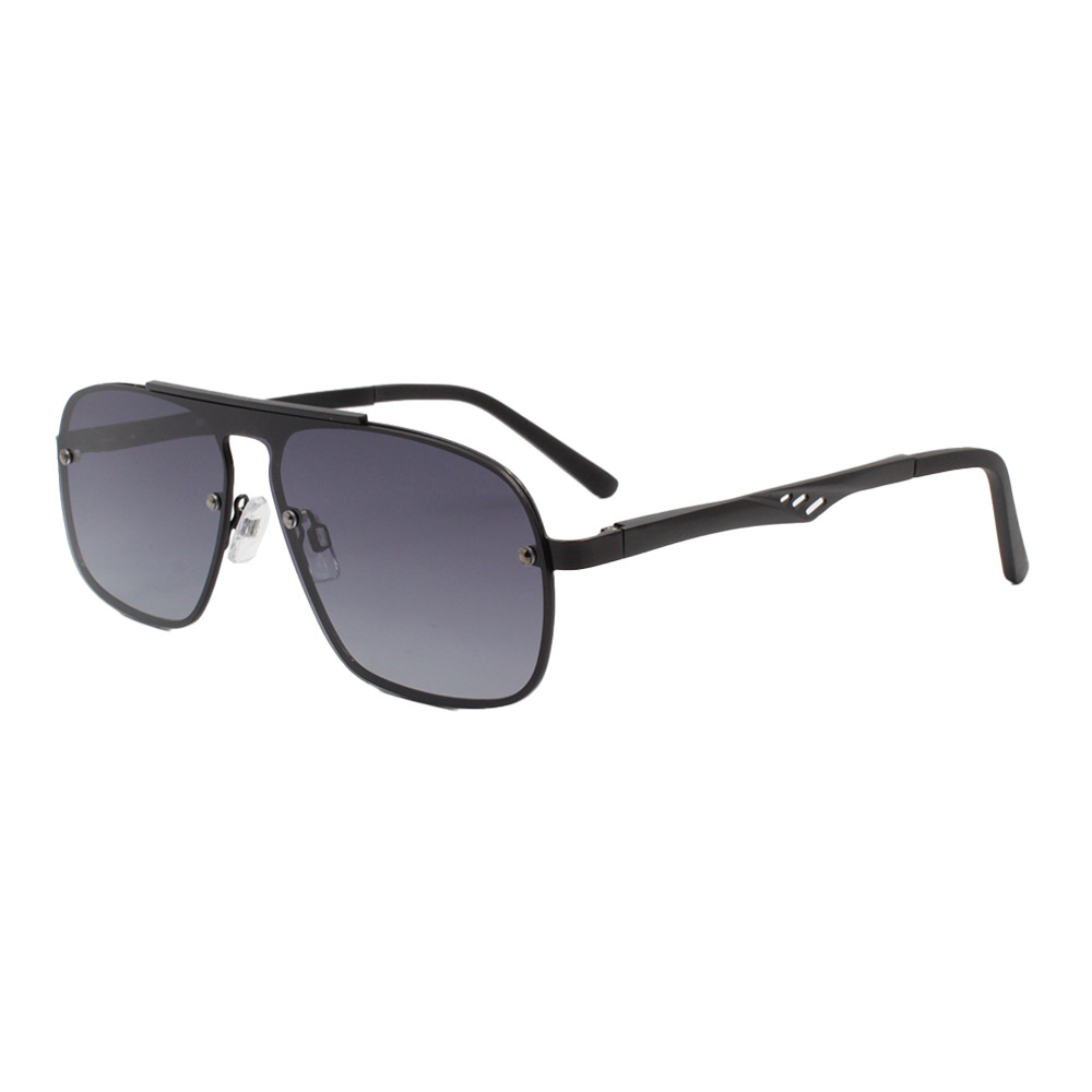 Óculos Solar Masculino Primeira Linha Polarizado 88026 Preto com Hastes de Alumínio