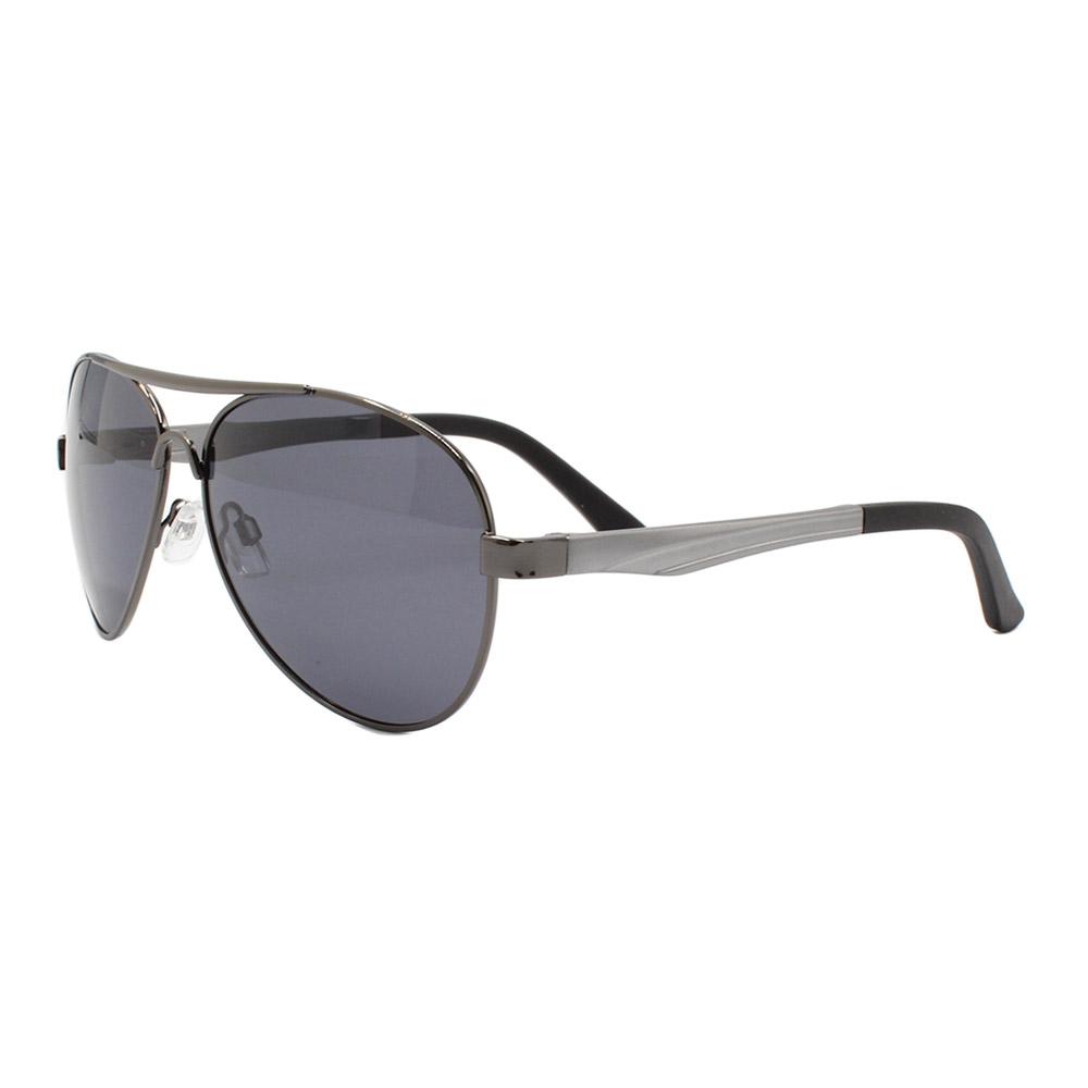 Óculos Solar Masculino Primeira Linha Polarizado Aviador 88009 Grafite com Hastes de Alumínio