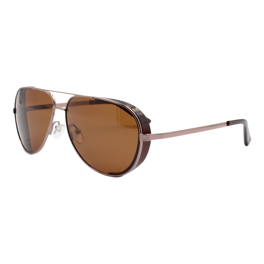 Óculos Solar Masculino Primeira Linha Polarizado Aviador YC3296 Marrom