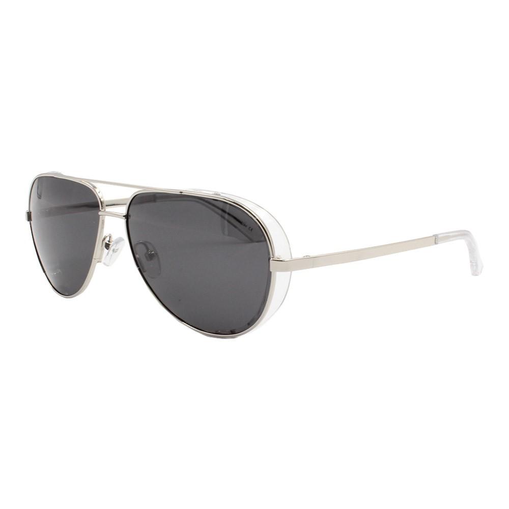 Óculos Solar Masculino Primeira Linha Polarizado Aviador YC3296 Prata