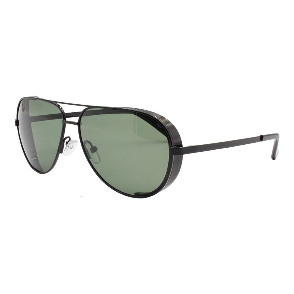 Óculos Solar Masculino Primeira Linha Polarizado Aviador YC3296 Preto e Verde