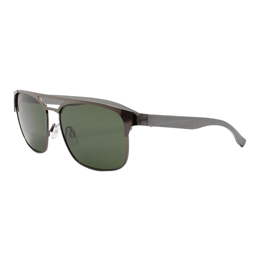 Óculos Solar Masculino Primeira Linha Polarizado B882089 Grafite e Verde com Hastes de Alumínio