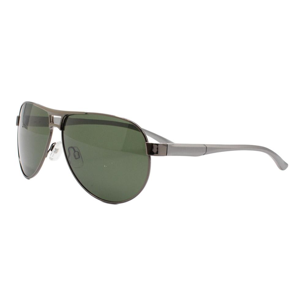 Óculos Solar Masculino Primeira Linha Polarizado B882090 Grafite e Verde com Hastes de Alumínio