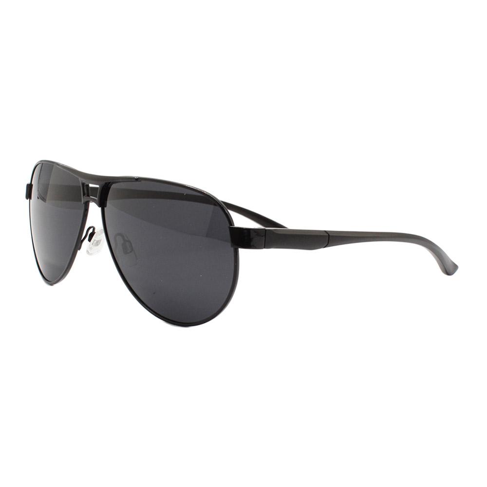 Óculos Solar Masculino Primeira Linha Polarizado B882090 Preto com Hastes de Alumínio