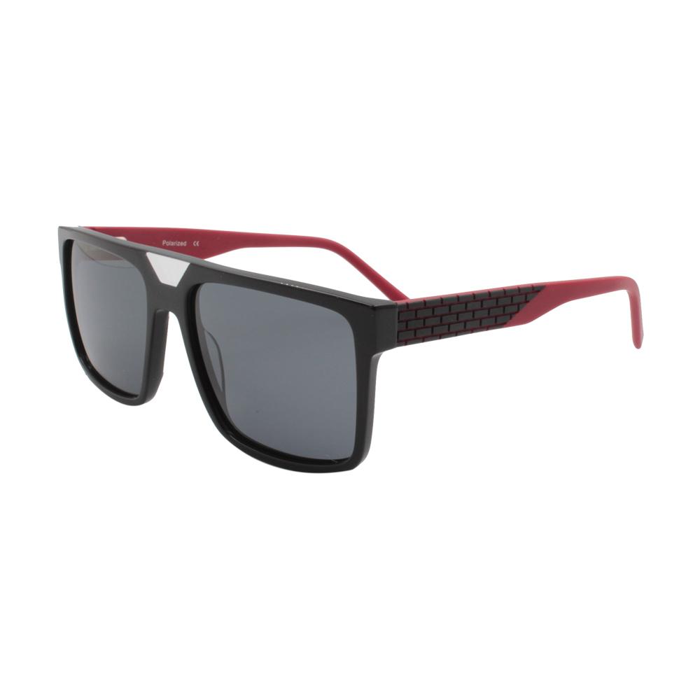 Óculos Solar Masculino Primeira Linha Polarizado MB4601-C1 Preto e Vermelho